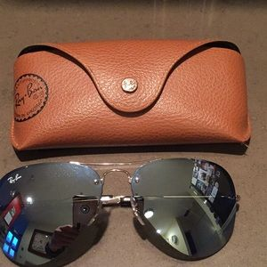 Ray-Ban aviator oversized mirror sunglasses